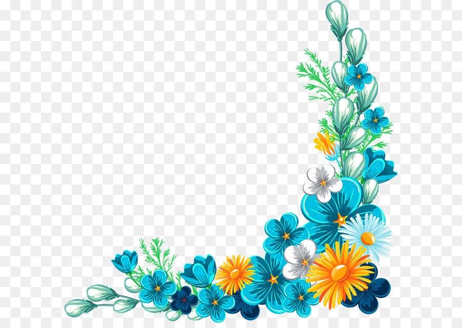 Bunga Biru Kelopak gambar png