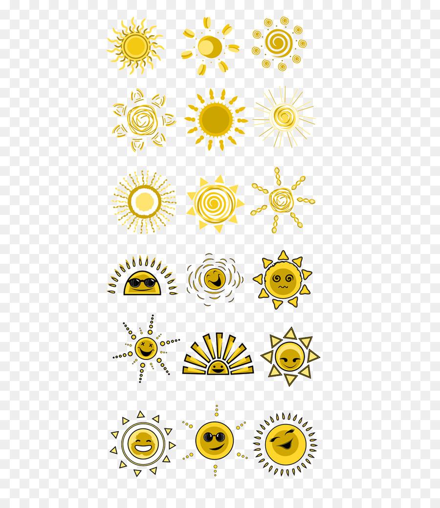 Kartun Sinar Matahari Seni Gambar Png