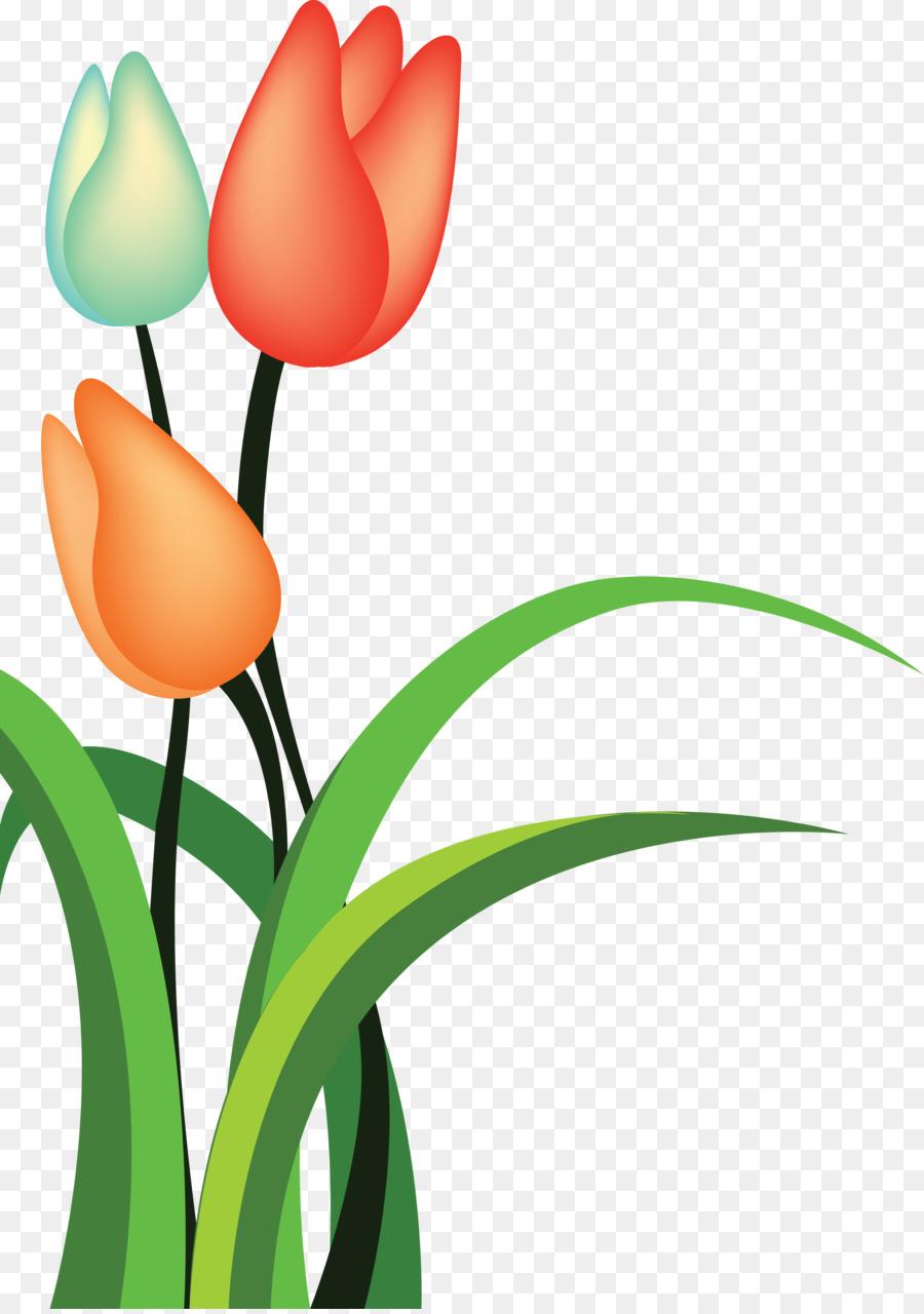 Tulip Kartun Bunga Gambar Png