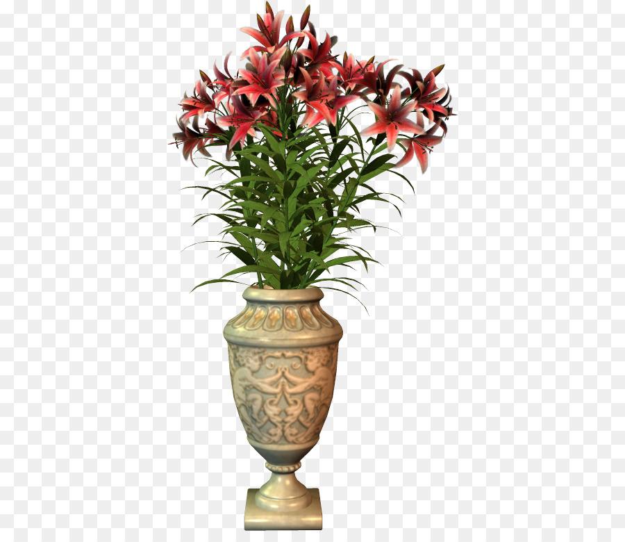 Bunga Bunga Dalam Vas Vas Bunga Gambar Png