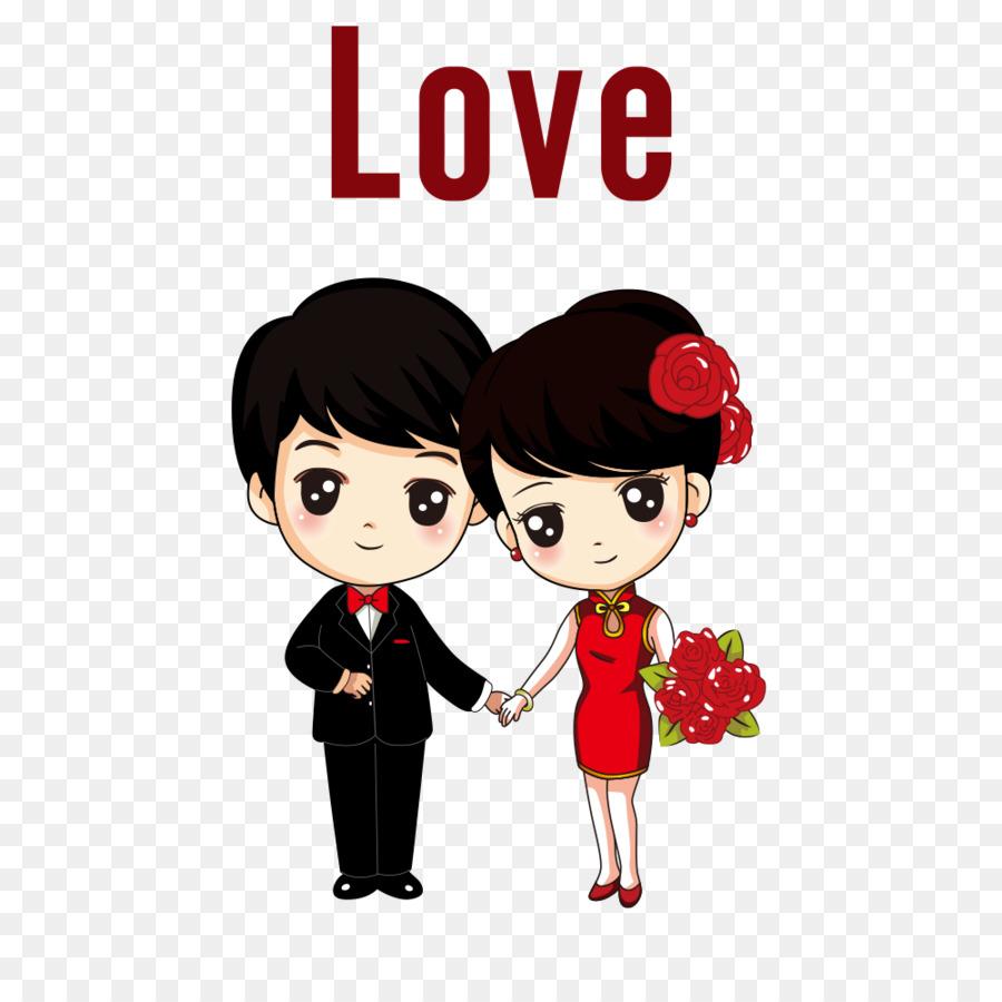 Kartun Gambar Pernikahan Gambar Png