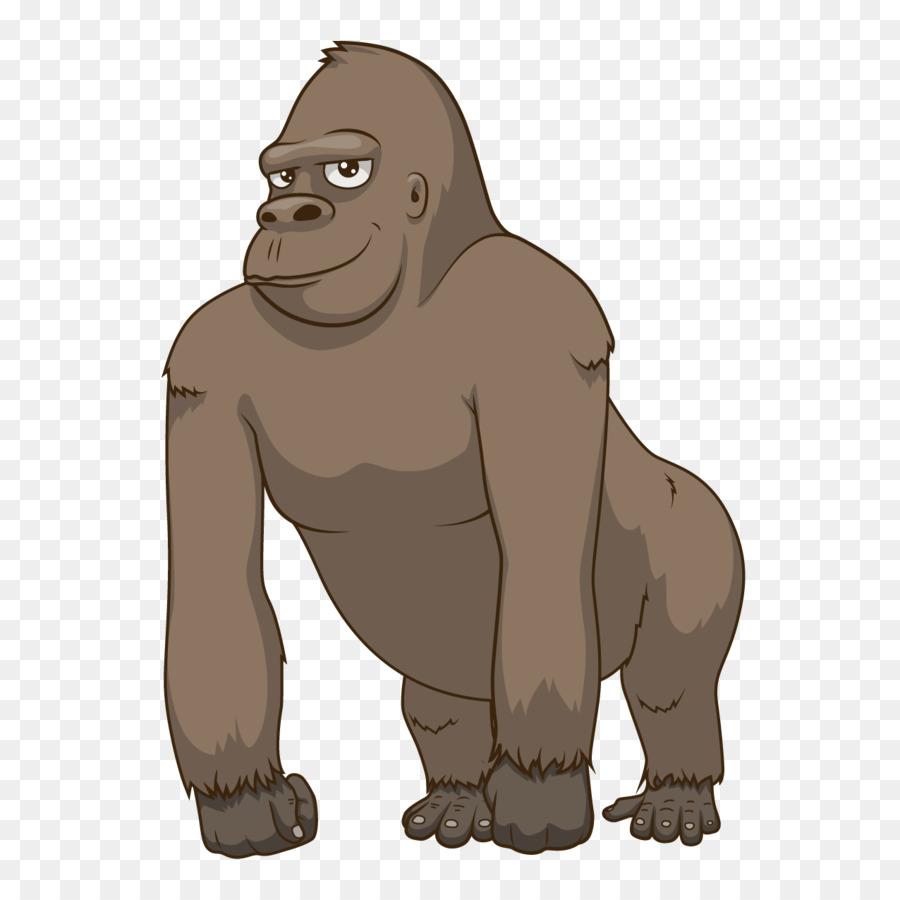 Gorila Hewan Buku Mewarnai Gambar Png