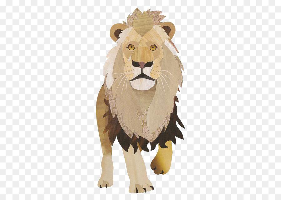 Gambar Kolase Singa