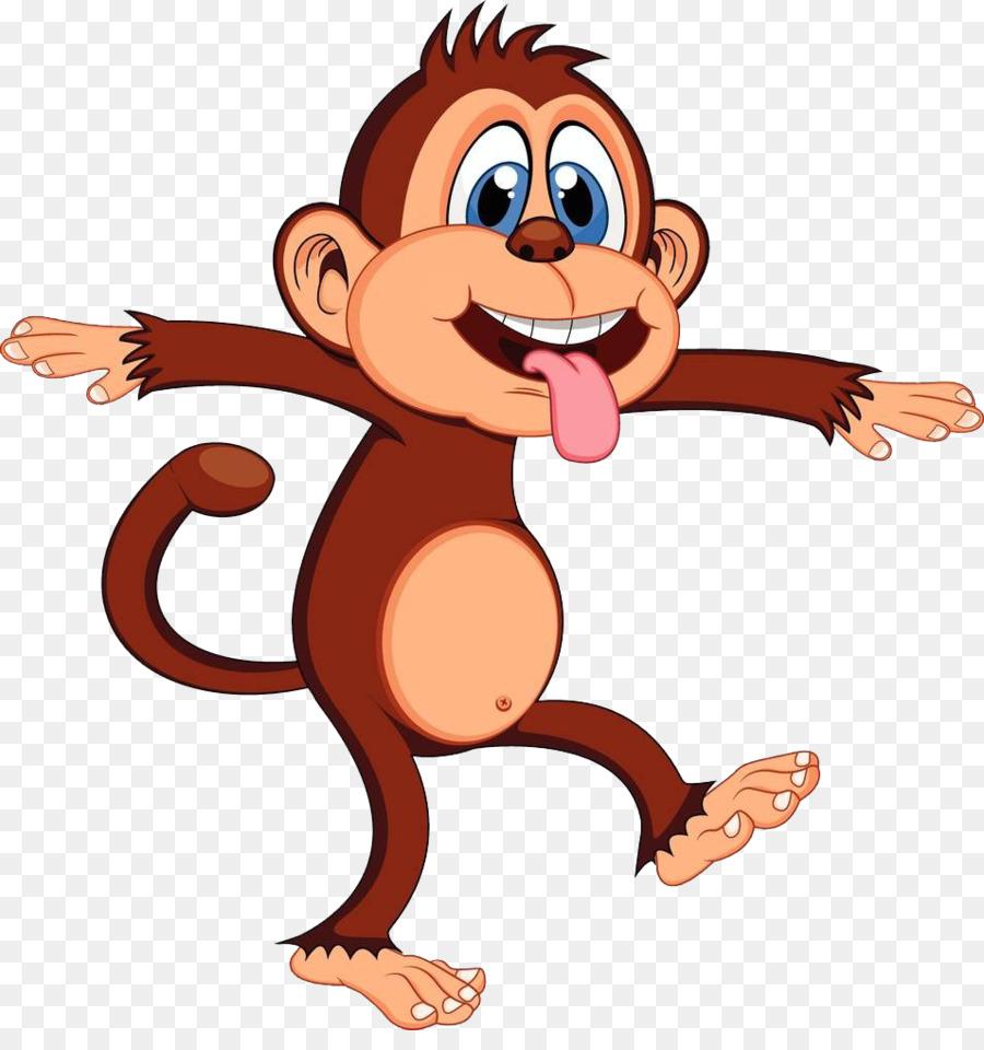 Gambar Monyet Animasi Png Monyet Animasi Kartun Gambar Png