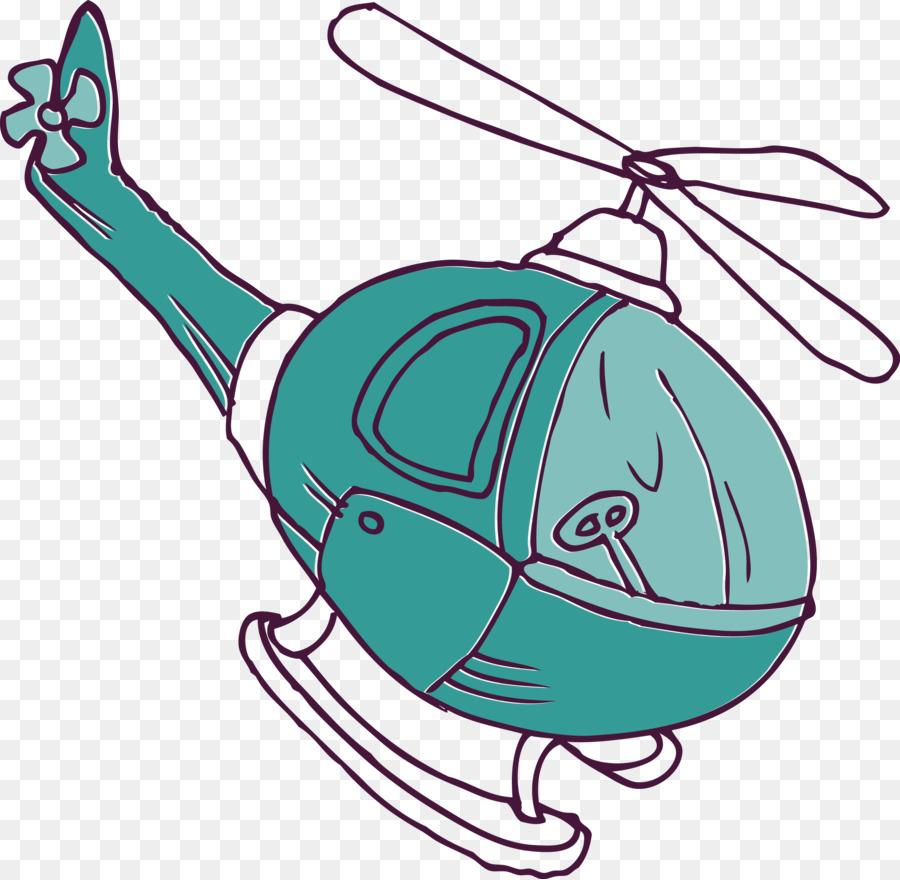 Kartun Helikopter Pesawat Gambar Png