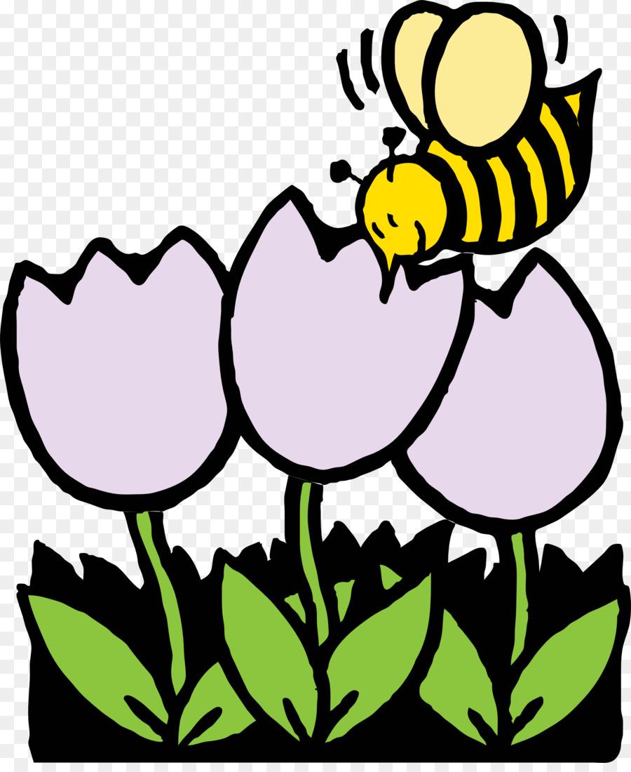 Lebah Buku Mewarnai Bunga Gambar Png