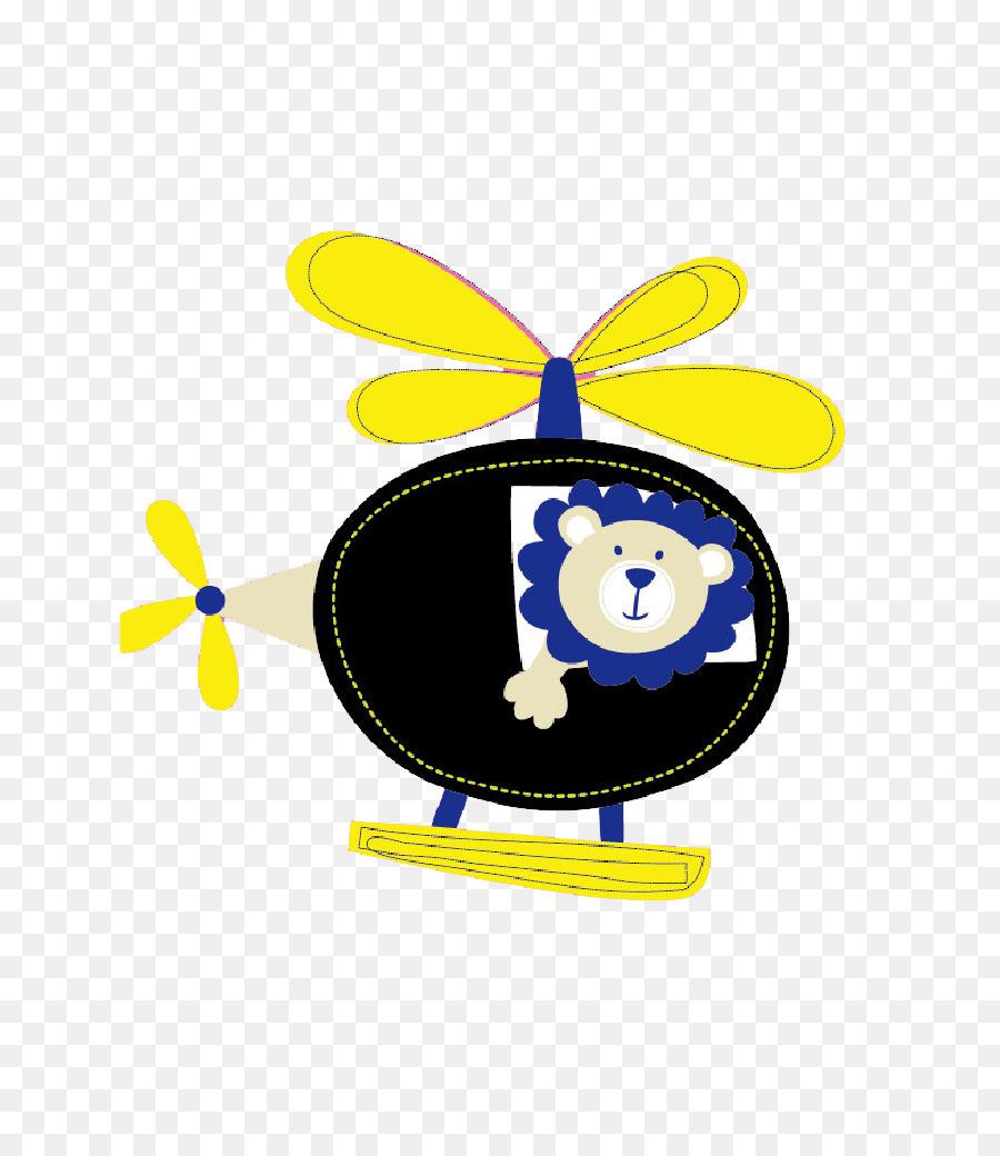 Helikopter Kartun Singa Gambar Png
