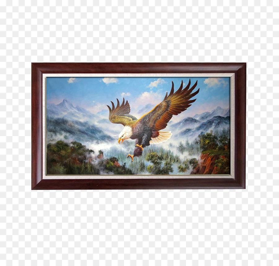 Lukisan Elang Bingkai Foto Gambar Png