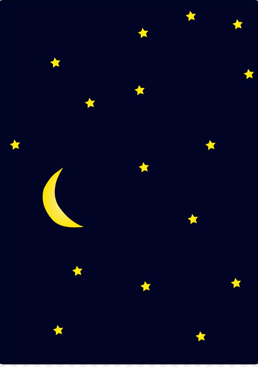 Langit Bulan Sabit Bintang Gambar Png