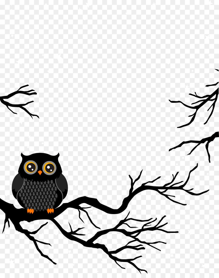 Burung Hantu Kartun Desain Grafis Gambar Png