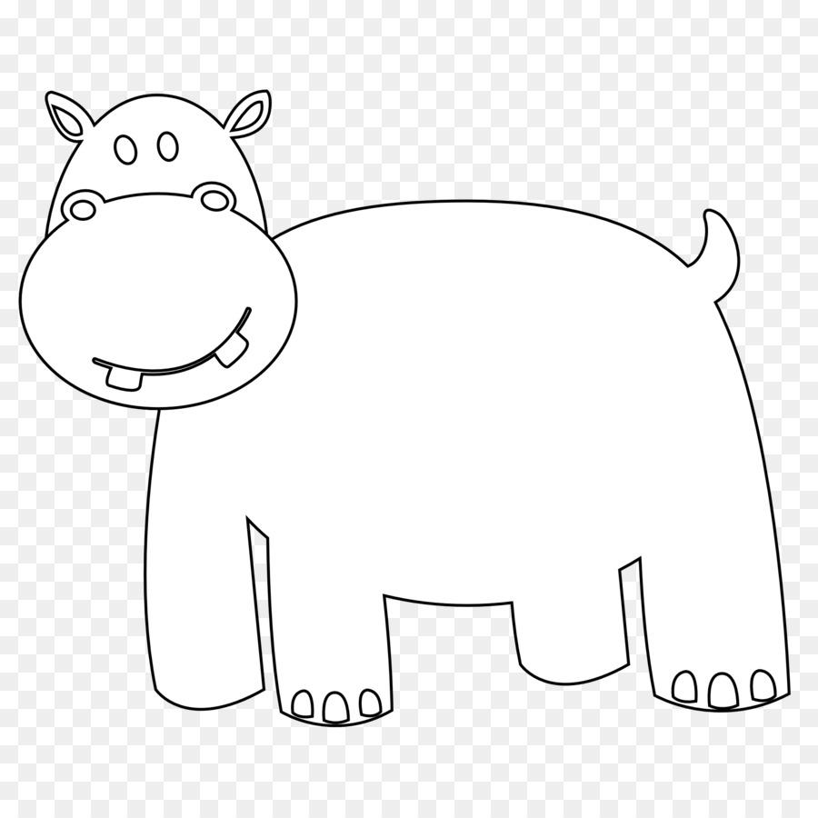 Kuda Nil Buku Mewarnai Hitam Dan Putih Gambar Png