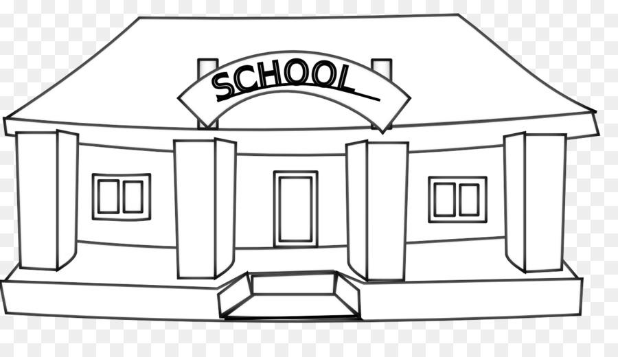 Sekolah Hitam Dan Putih Perpustakaan Gambar Png