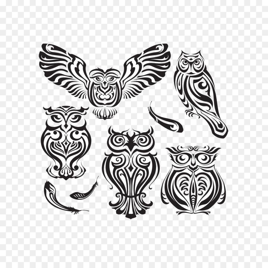 Burung Hantu Desain Grafis Tato Gambar Png
