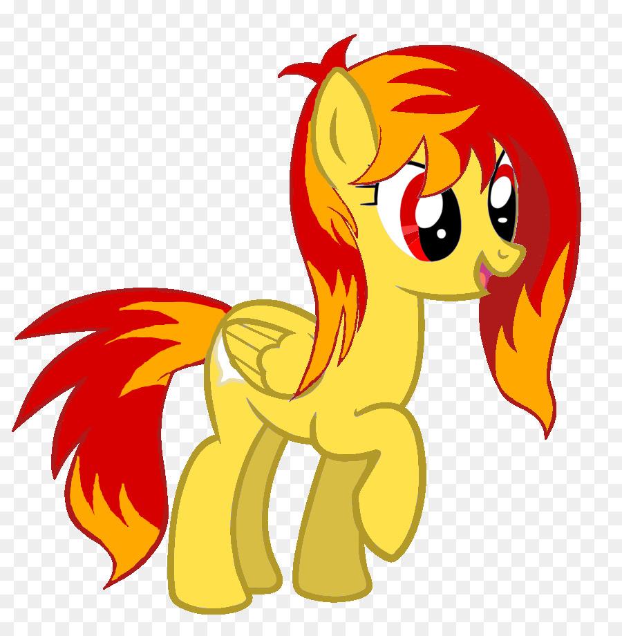 Pony Kartun Api Gambar Png
