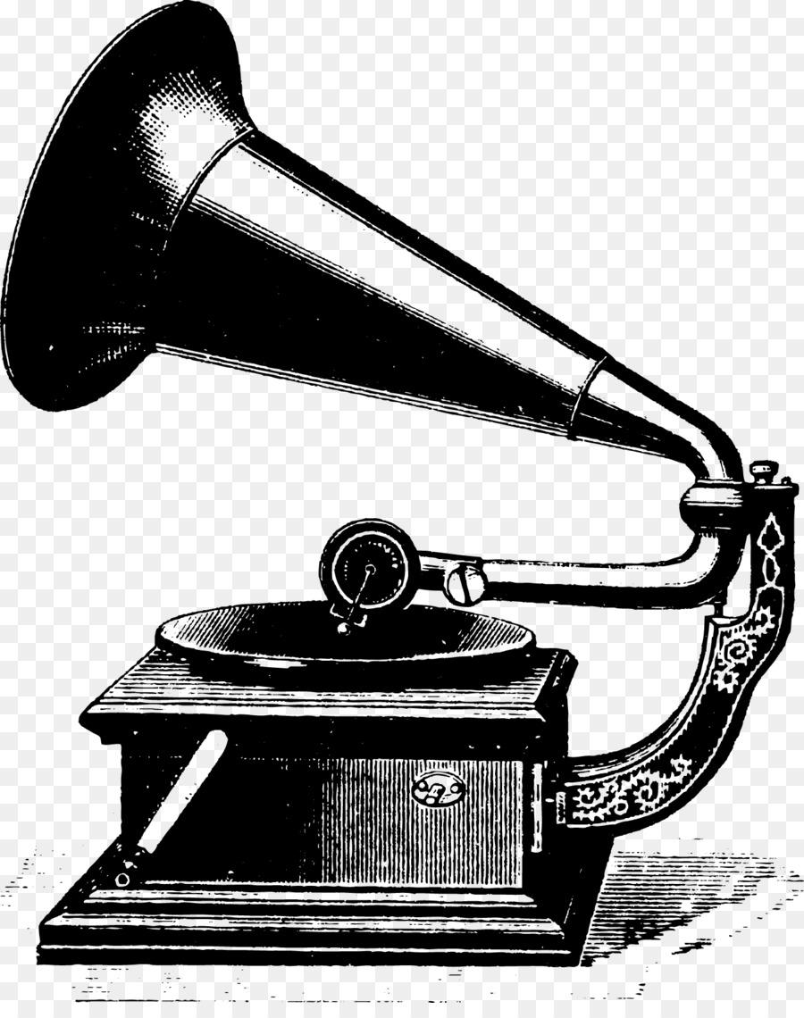 Fonograf Antik Catatan Phonograph Gambar Png