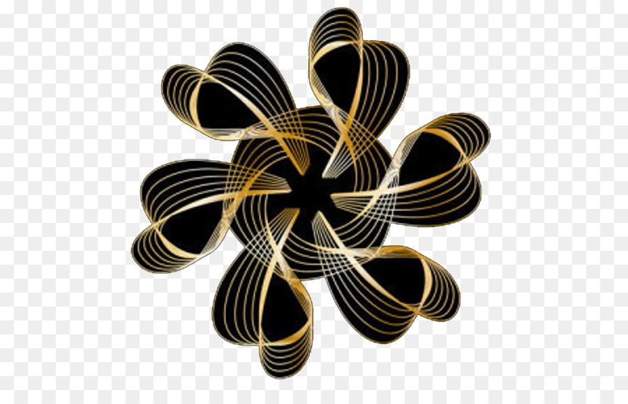 Hitam Lingkaran Emas Gambar Png