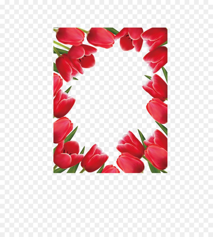 Bunga Tulip Desain Bunga Gambar Png
