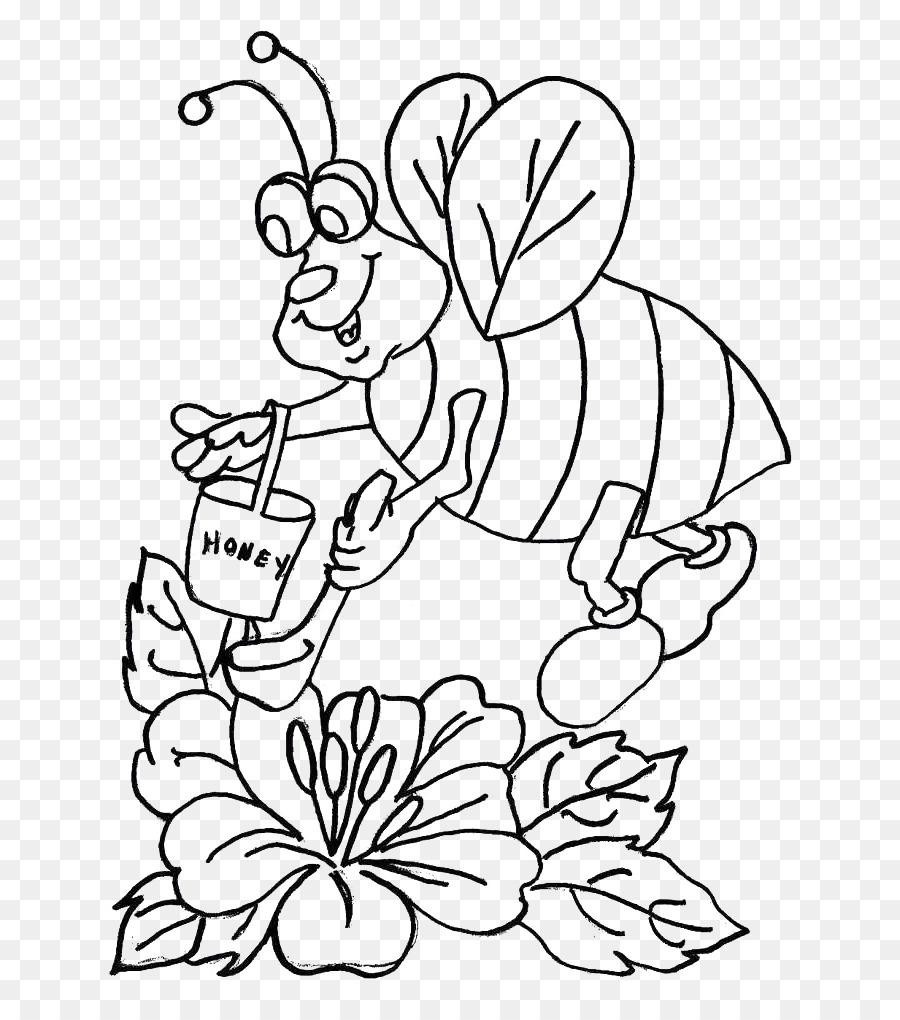 Lebah Buku Mewarnai Pesan Gambar Png