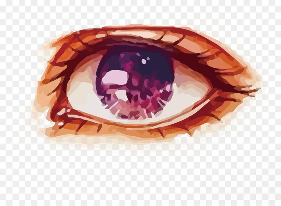 Lukisan Cat Air Mata Gambar Gambar Png