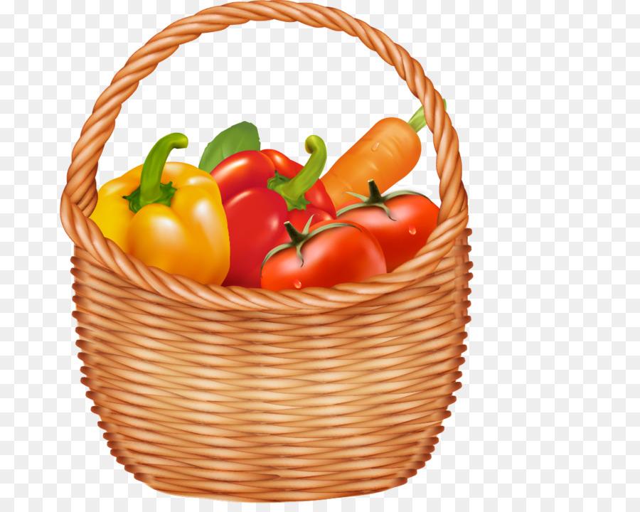 Keranjang Buah Sayuran Gambar Png