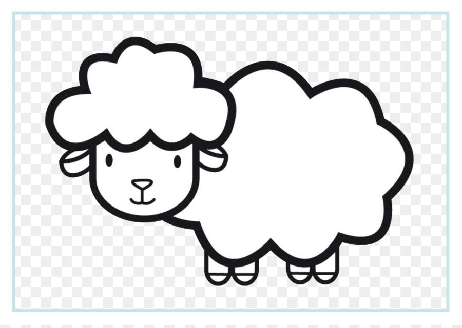 Domba Kambing Buku Mewarnai Gambar Png