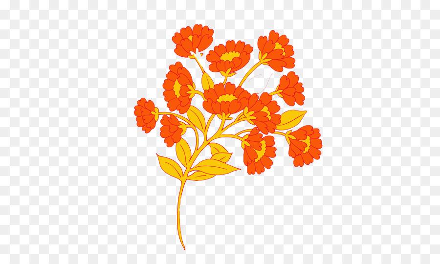 Krisan Xd7grandiflorum Kartun Bunga Gambar Png