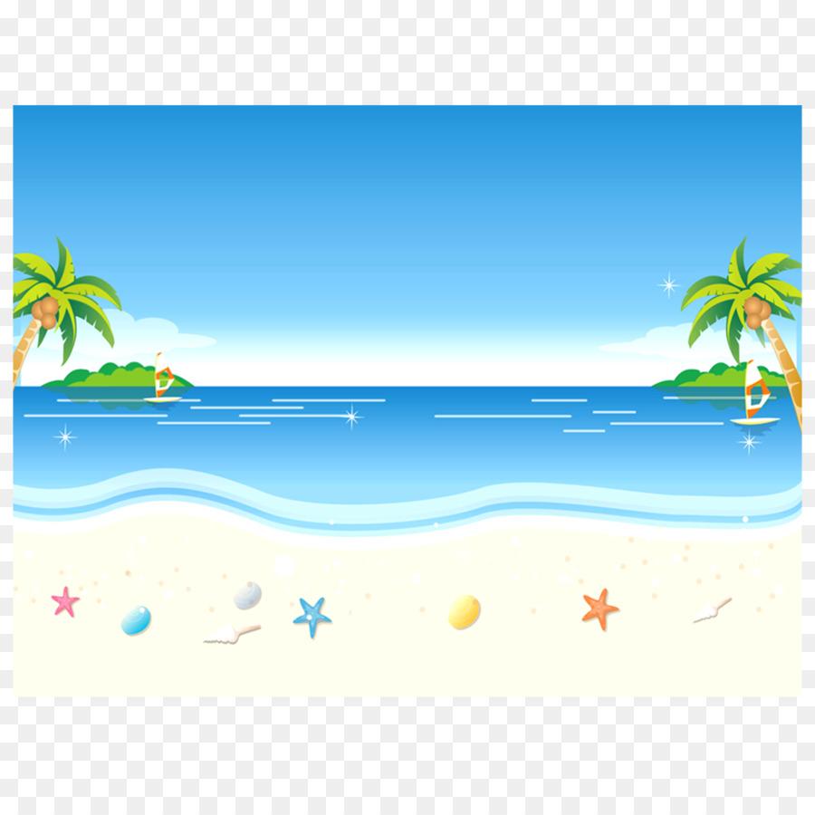 Pantai, Animasi, Kartun gambar png