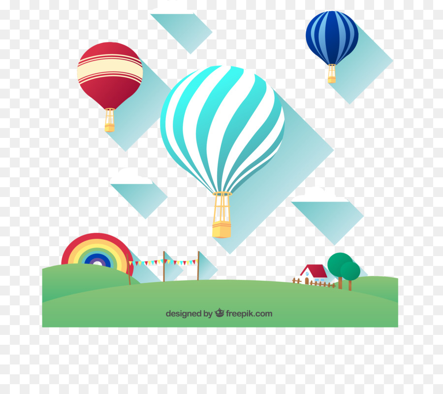 Tiket Pesawat Balon Udara Panas Euclidean Vektor Gambar Png
