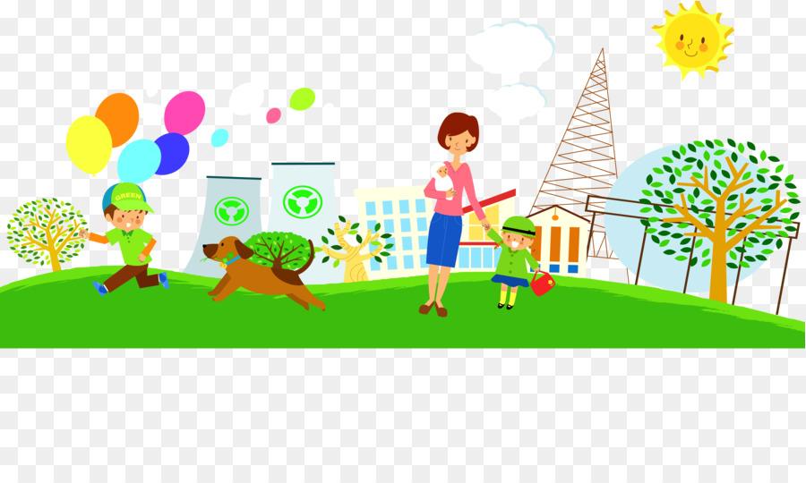 Gambar Ilustrasi Taman Bermain Taman Hiburan Kartun Men Download Gambar Png