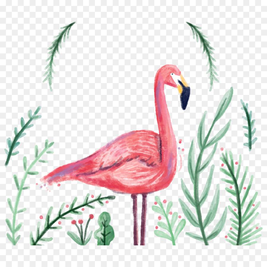 Flamingo Undangan Pernikahan Percetakan Gambar Png