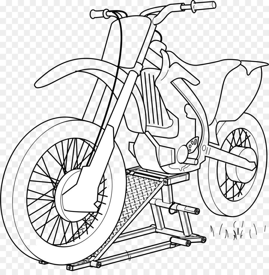 Mobil Sepeda Motor Buku Mewarnai Gambar Png