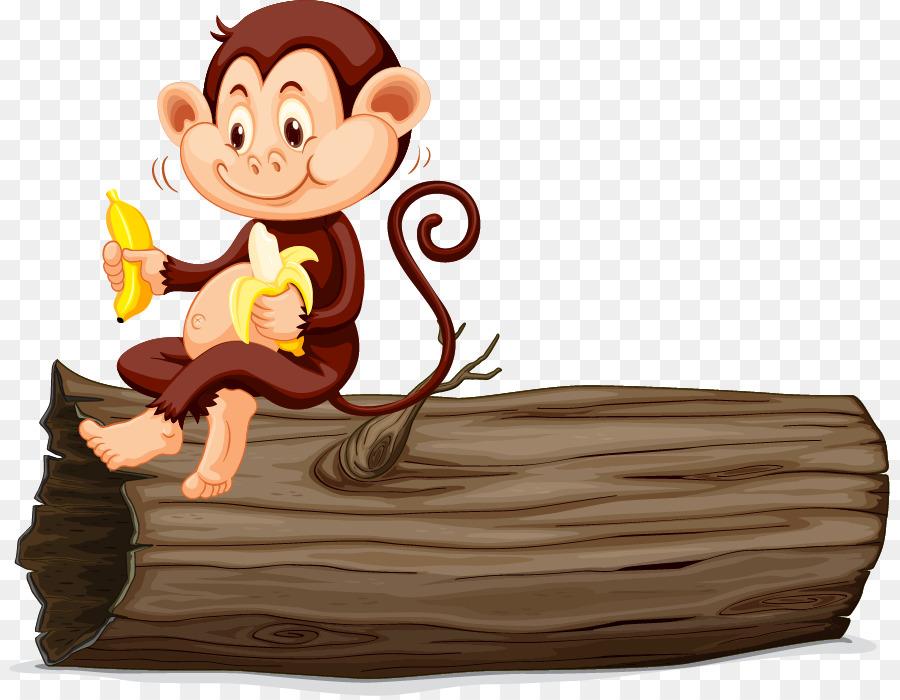 Gambar Monyet Bawa Pisang Monyet Makan Pisang Gambar Png