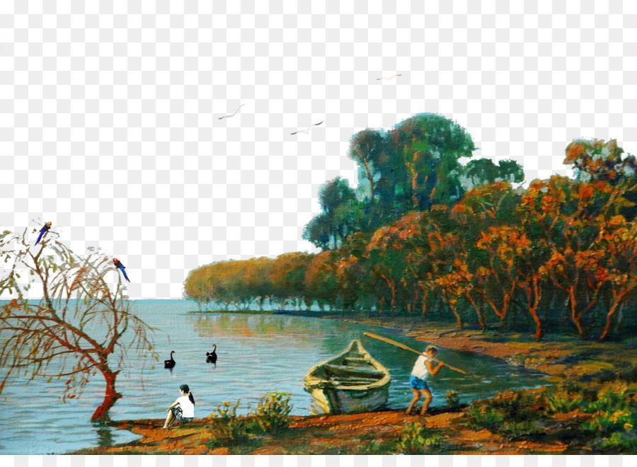Download 45 Koleksi Background Lukisan Pemandangan Terbaik