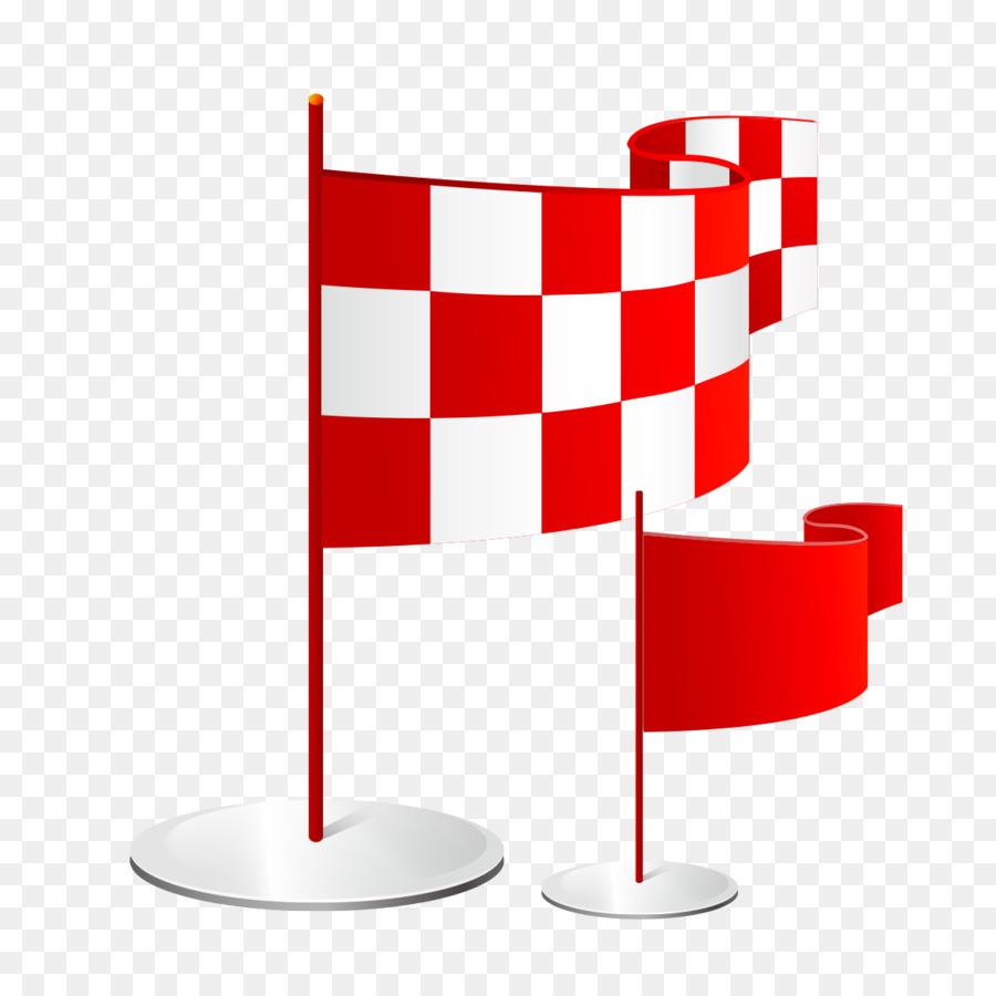Merah Bendera Kartun Gambar Png