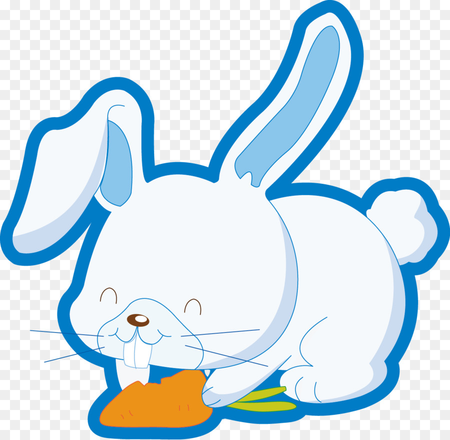 Kelinci Paskah Kartun Buku Mewarnai Gambar Png