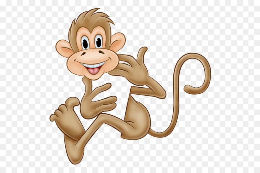 Gambar Monyet Animasi Png Monyet Kera Kartun Gambar Png