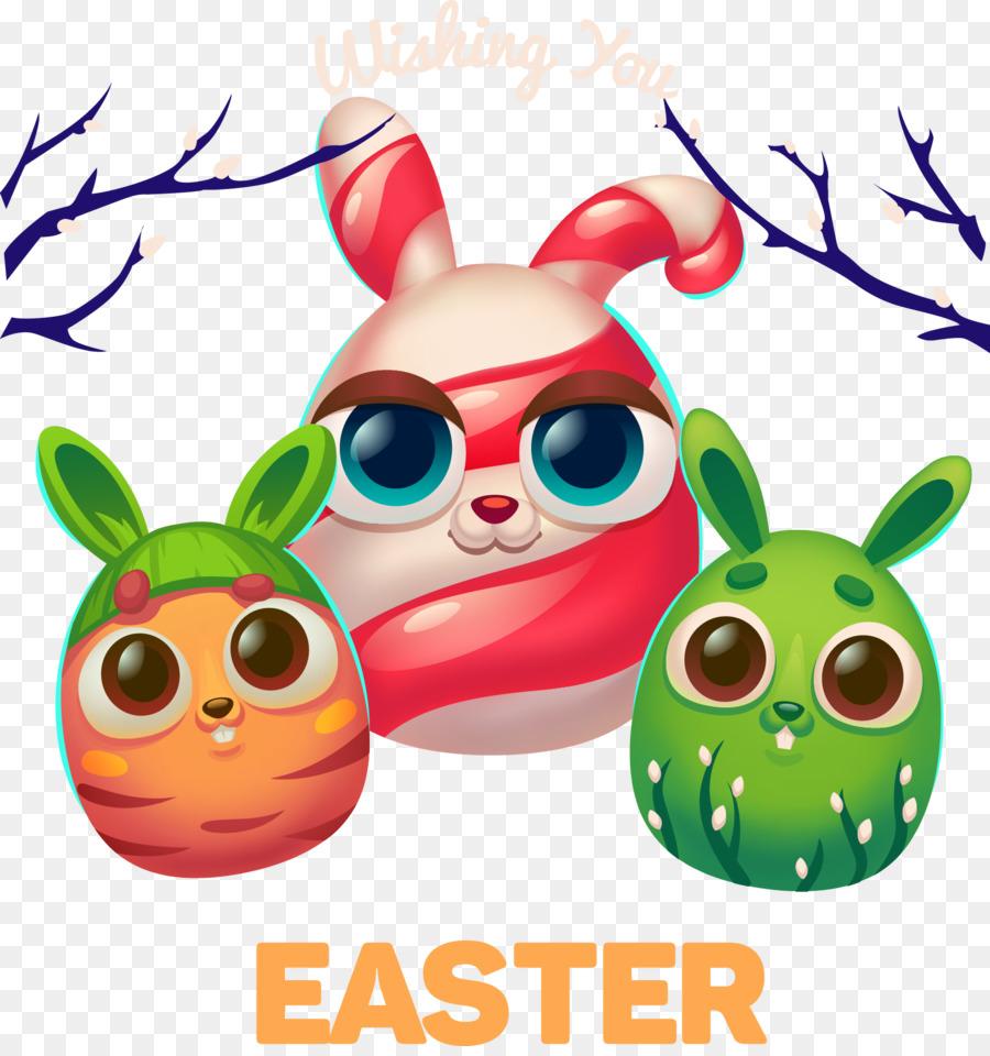 Kelinci Paskah Telur Paskah Mewarnai Halaman Telur Gambar Png