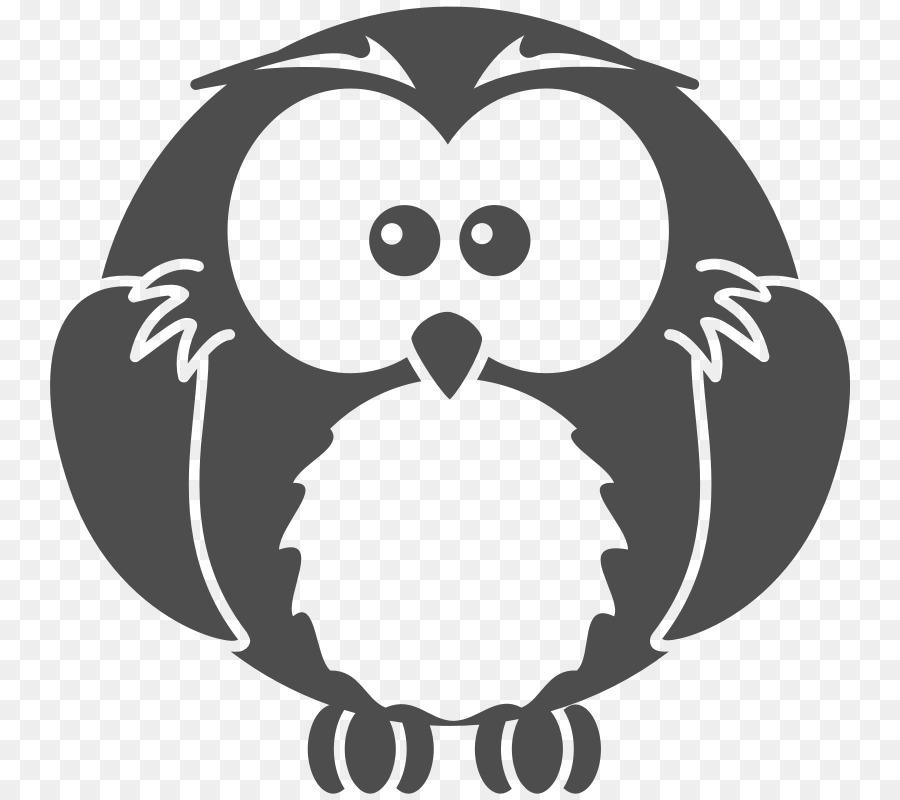 Burung Hantu Blackandwhite Owl Hitam Dan Putih Gambar Png