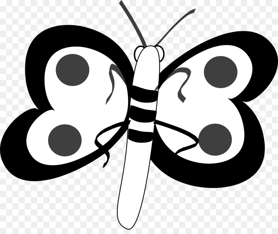 Kupu Kupu Hitam Dan Putih Kupu Kupu Monarch Gambar Png