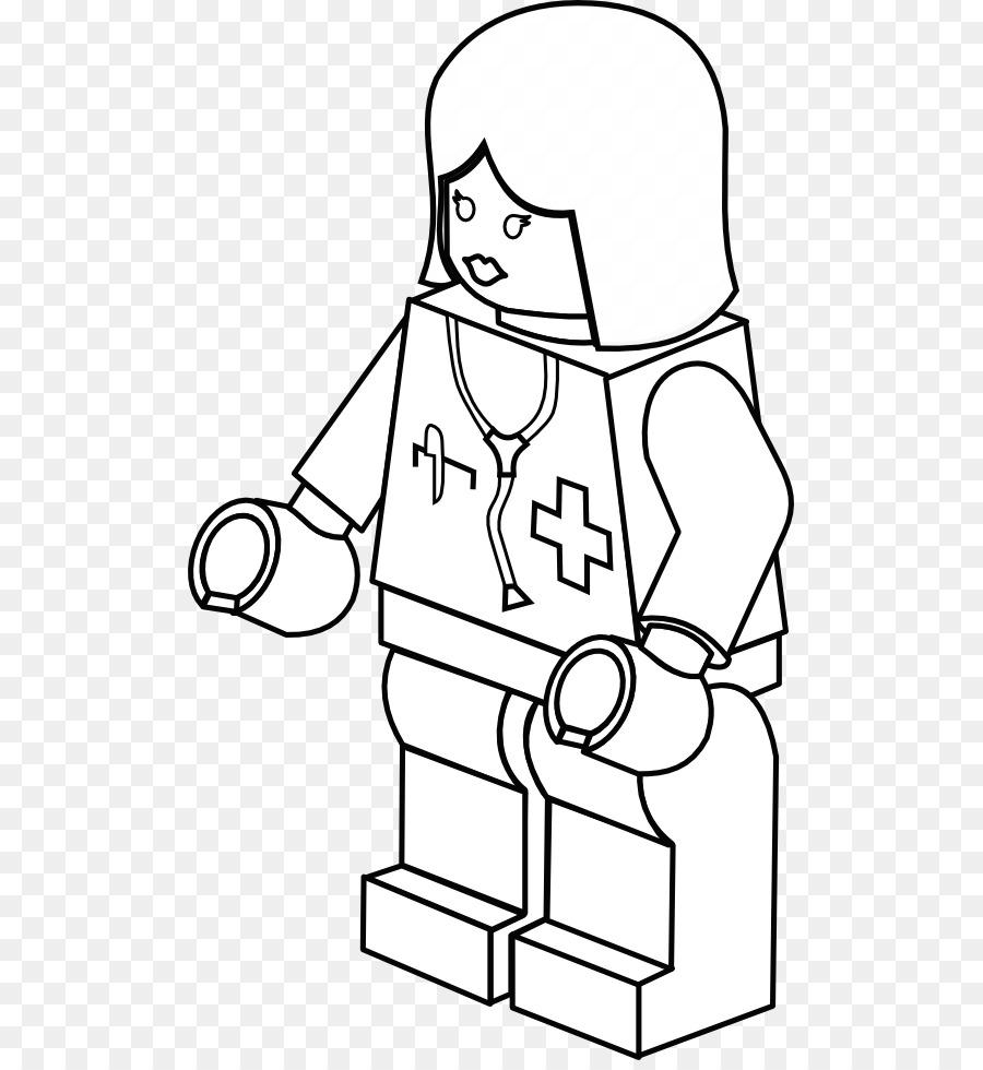 Buku Mewarnai Petugas Pemadam Kebakaran Lego Gambar Png