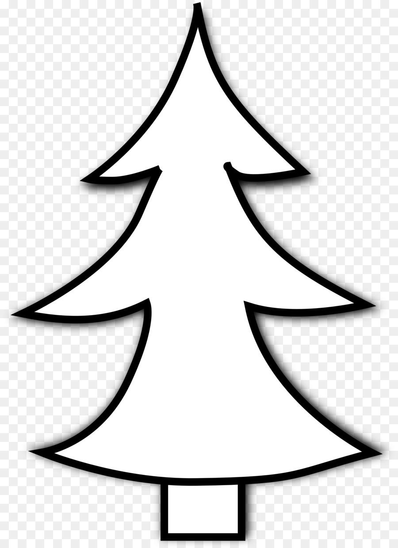Pohon Natal Natal Hitam Dan Putih Gambar Png