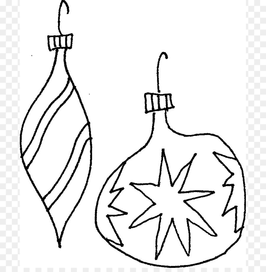 Natal Ornamen Natal Buku Mewarnai Gambar Png