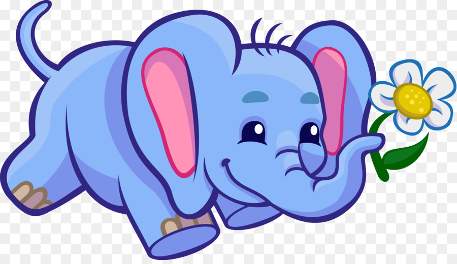4000 Gambar Gajah Kartun Berwarna Gratis Infobaru
