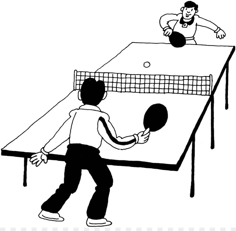 Bermain Tenis Meja Ping Pong Buku Mewarnai Gambar Png