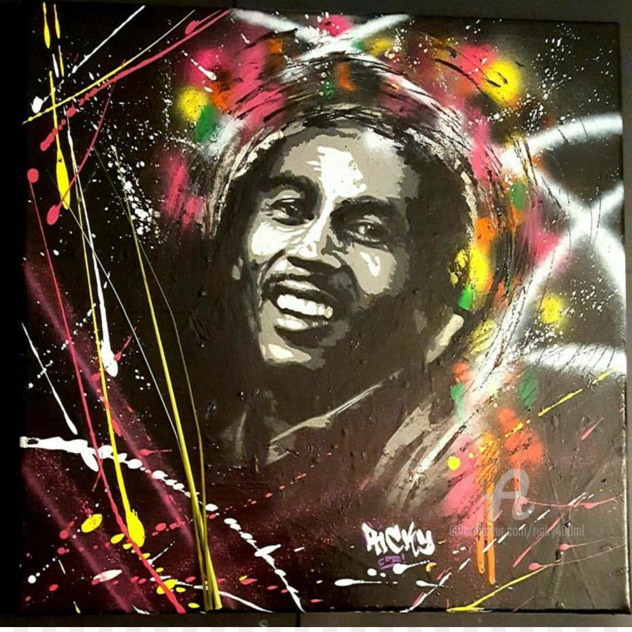 Bob Marley Seni Kanvas Gambar Png