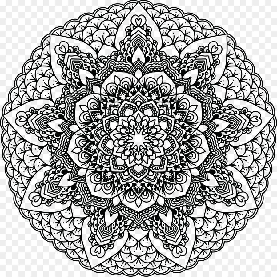 Buku Mewarnai Mandala Dewasa Gambar Png