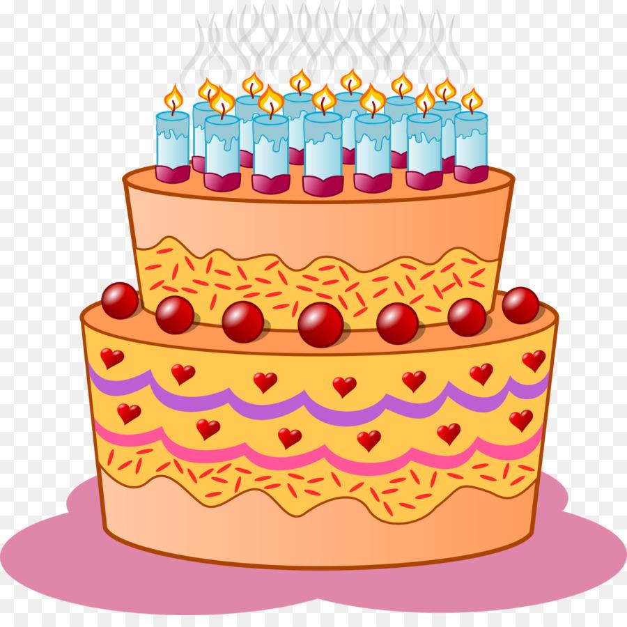 Kue Ulang Tahun Cupcake Kartun Gambar Png