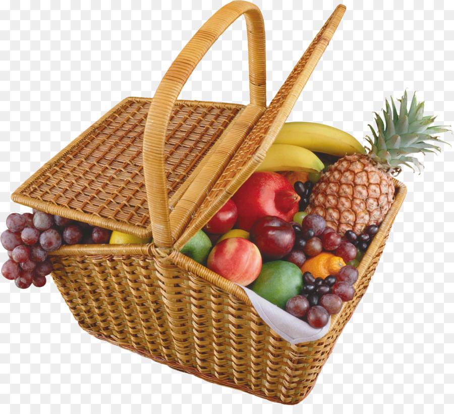 Keranjang Buah Buah Makanan Keranjang Hadiah Gambar Png