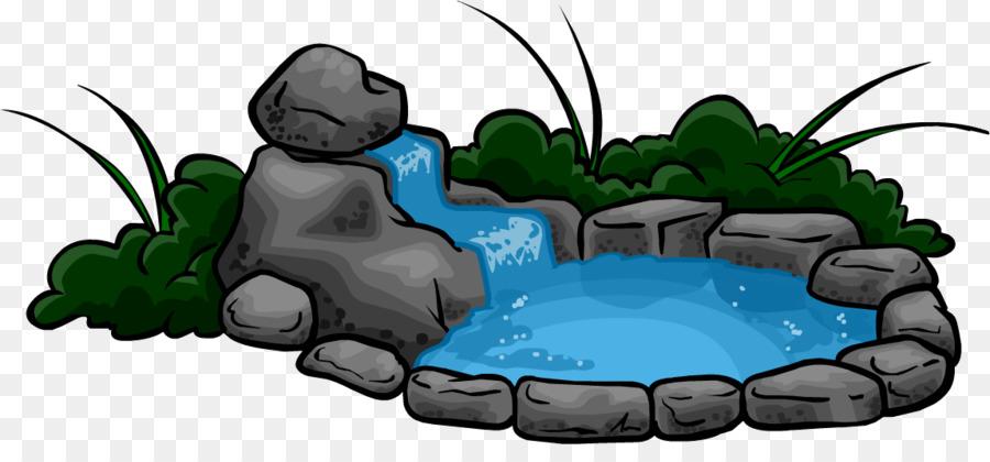 Kolam Air Terjun Kolam Ikan Gambar Png