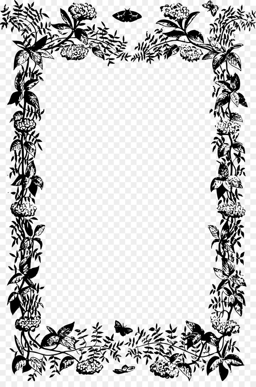 Bingkai Foto Bunga Ornamen Gambar Png